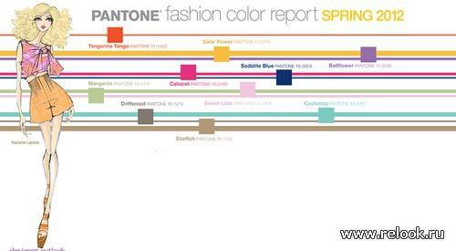 Модные цвета сезона весна 2012