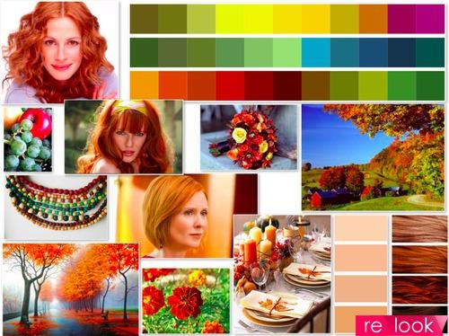 Теория времен года: цветотип осень