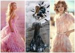 Птица счастья: платья с перьями до сих пор в моде?