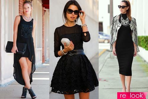 Мода черное платье фото