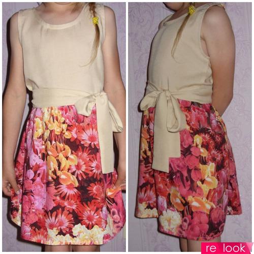 МК: платье повседневное для девочки