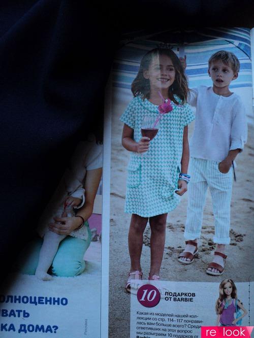 МК: платье-трапеция с коротким рукавом для девочки