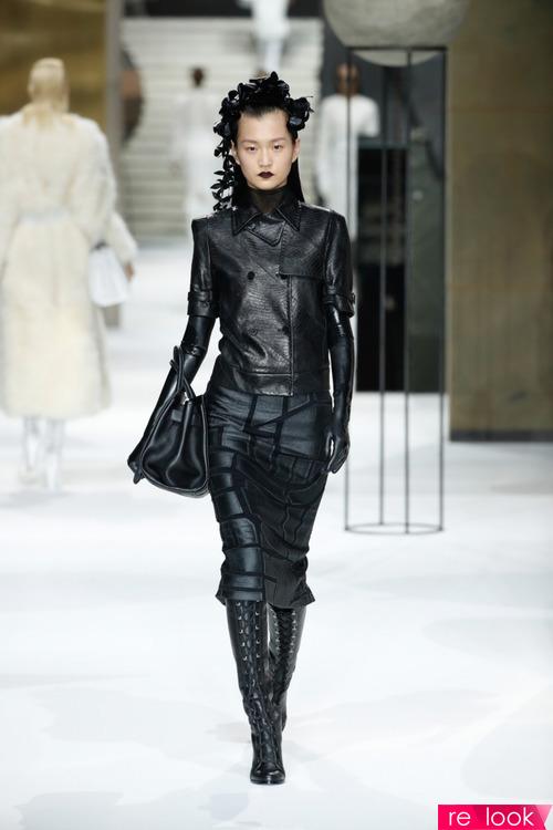 Кожаный Total look осенней моды 2017