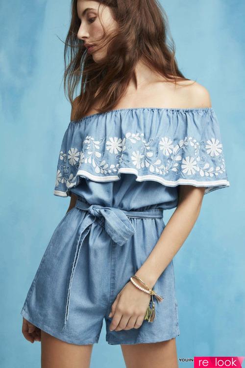 Модные ромперы лета 2017