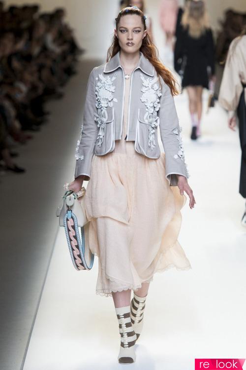 Модные комплекты одежды в весенне-летней коллекции Fendi 2017