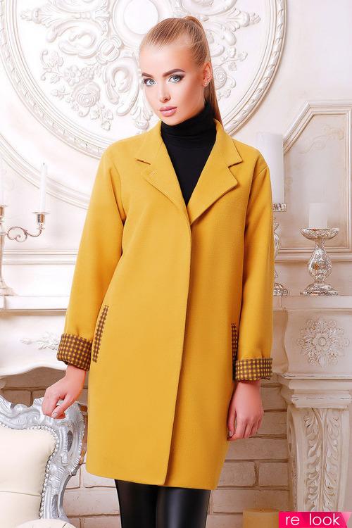 С чем сочетать пальто горчичного цвета?