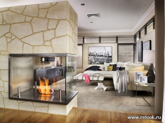 камин в гостиной