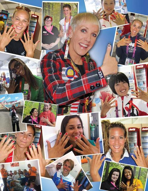 Олимпийский маникюр от CND: покрытие Shellac украшало ногти более 200 спортсменов!