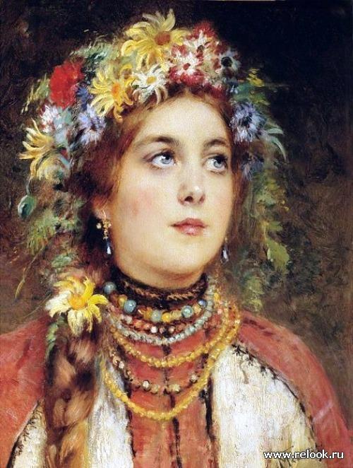 Мне снилась девушка с … венком из васильков на юной голове. (с) А. Апухтин, 1859