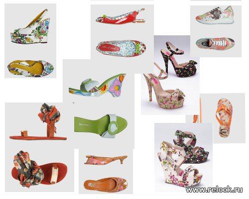 Цветы у наших ног: обзор обуви с флористическим принтом коллекций весна-лето 2012