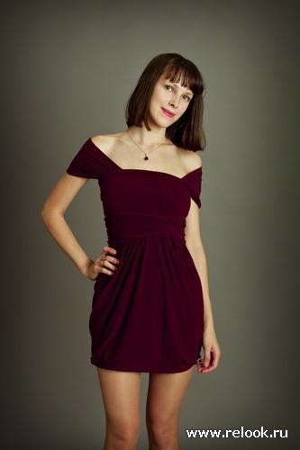 Бордо, маленькое коктейльное платье