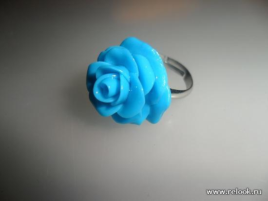 """Кольцо """"Голубая роза"""""""