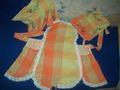 фартук из скатерти и два полотенца рукотерника