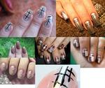 Графика или простые линии на ногтях
