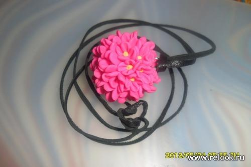 МК Подвеска из цветочков