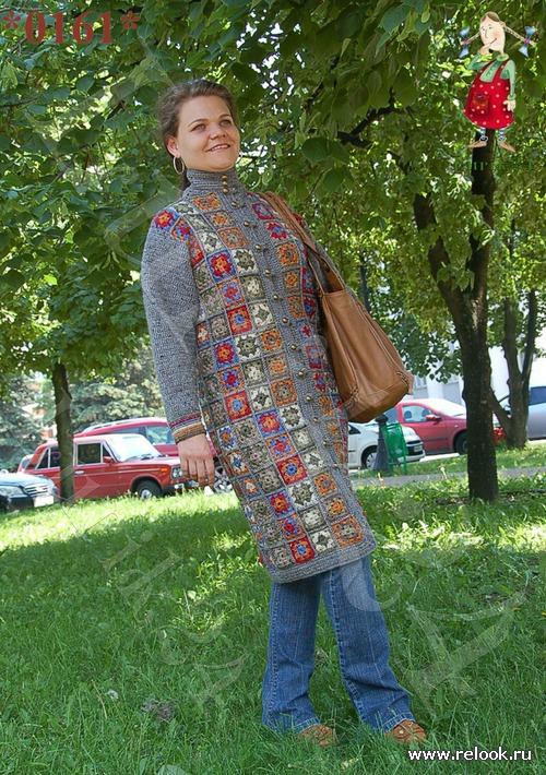 """Мой плед """"Пальто Бабушкин квадрат"""""""