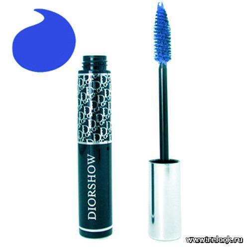 Синяя тушь от Dior, серия DIORSHOW, № 258 azure blue