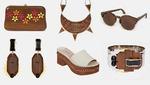 Модные аксессуары и детали из дерева