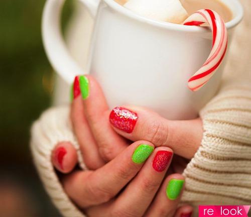 Новогодний маникюр 2014: модные цвета и дизайнерские задумки
