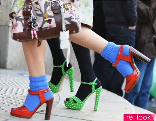 Носки+туфли = модный тренд