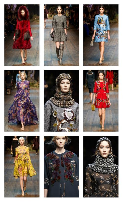 Dolce & Gabbana осень 2014: ожившая сицилийская сказка, или Новая история Красной Шапочки