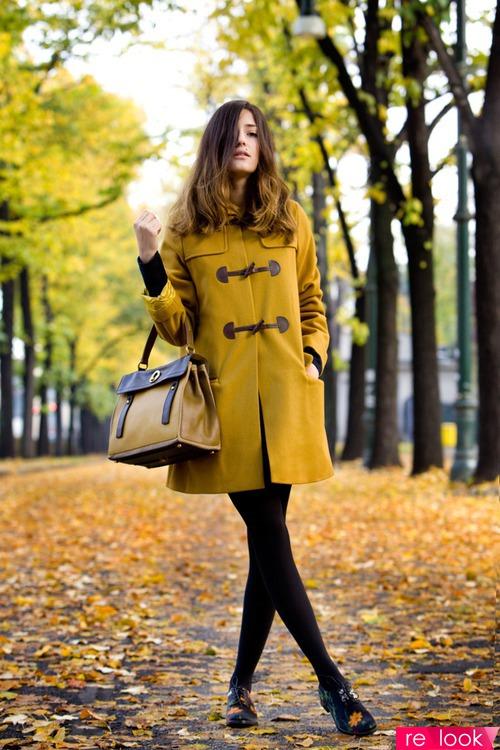 Модное и уютное пальто - дафлкот