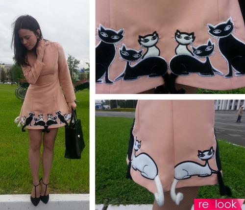 Мой очередной заскок! Платье с кошками)))