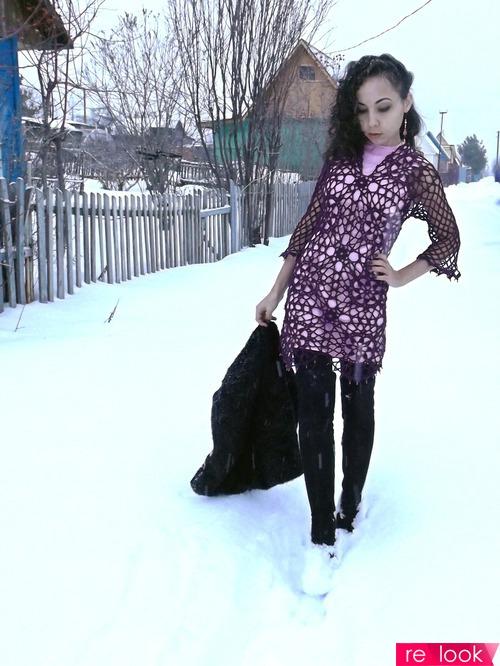 Под декабрьским снегопадом