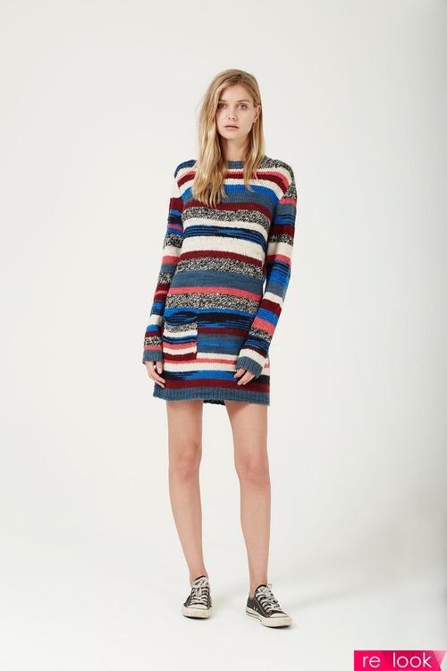 Платье-свитер: как выбрать и с чем носить?