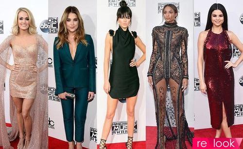От полосок до страз: красная дорожка American Music Awards 2015
