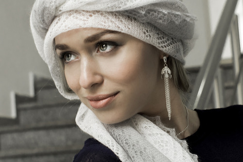 4 способа завязать оренбургский платок