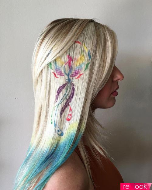 Граффити на волосах
