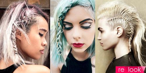 Фальшпирсинг в волосах
