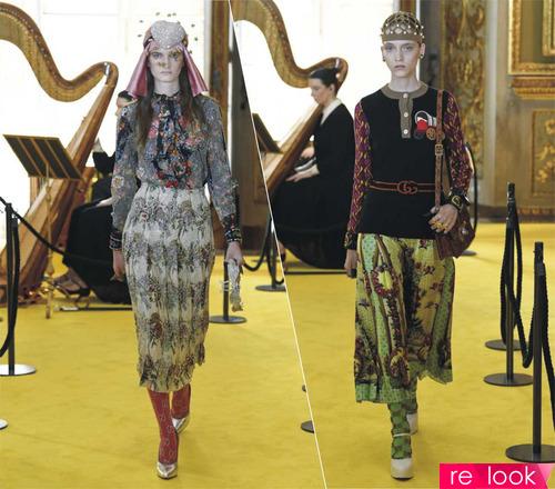 Круизная коллекция Gucci 2018: женский лукбук, различные сочетания одежды