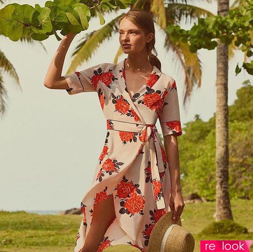 Модные платья-халаты летом 2017 года