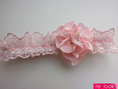 МК: детская повязка с розой из атласной ленты без клея