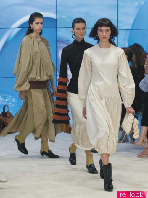 Модные платья в весенне-летней коллекции Loewe 2017