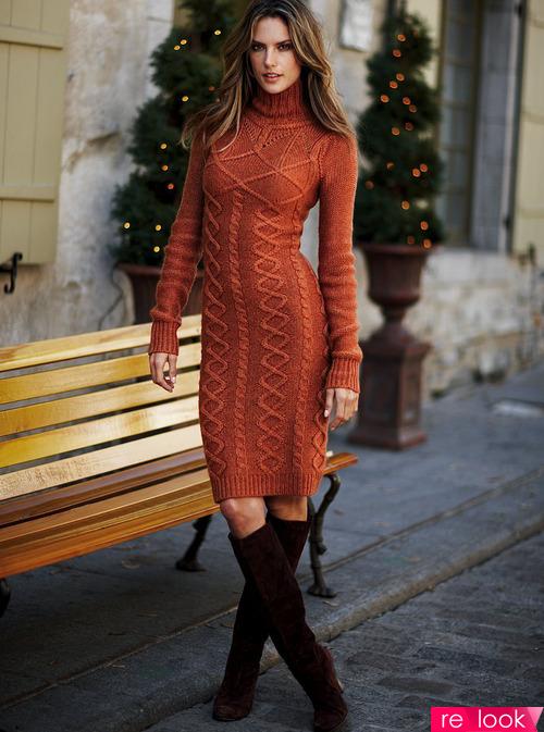 Вязаные платье осень-зима 2017-18
