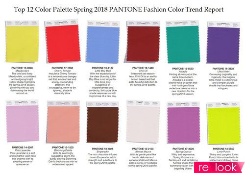 Краски будущей весны и лета 2018
