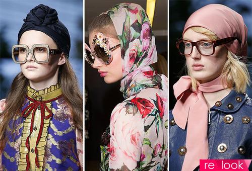 Скромненький синий платочек: как модно носить платок на голове