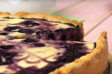 Творожно-черничный пирог (как чизкейк)