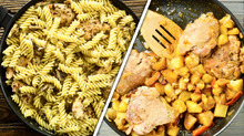 7 идей ужина или обеда на сковороде