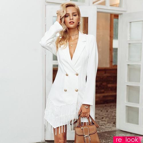 Платье-пиджак - тренд осенней моды 2021